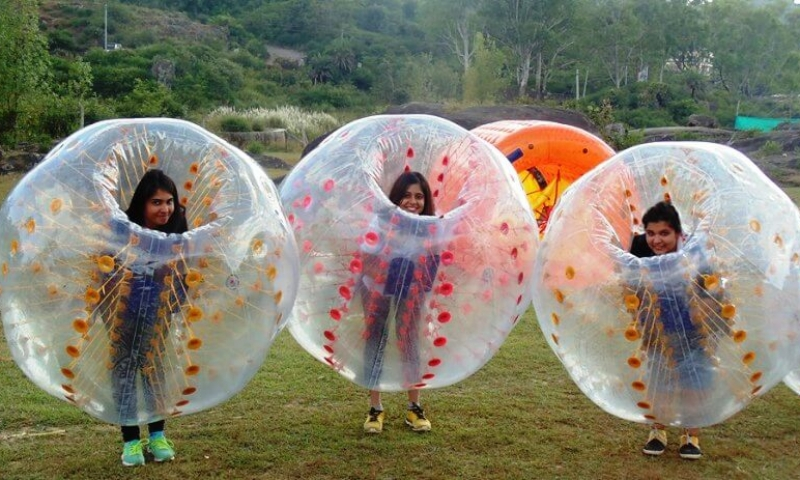 thrill-zone-adventure-park-mount-abu-body-zorbing