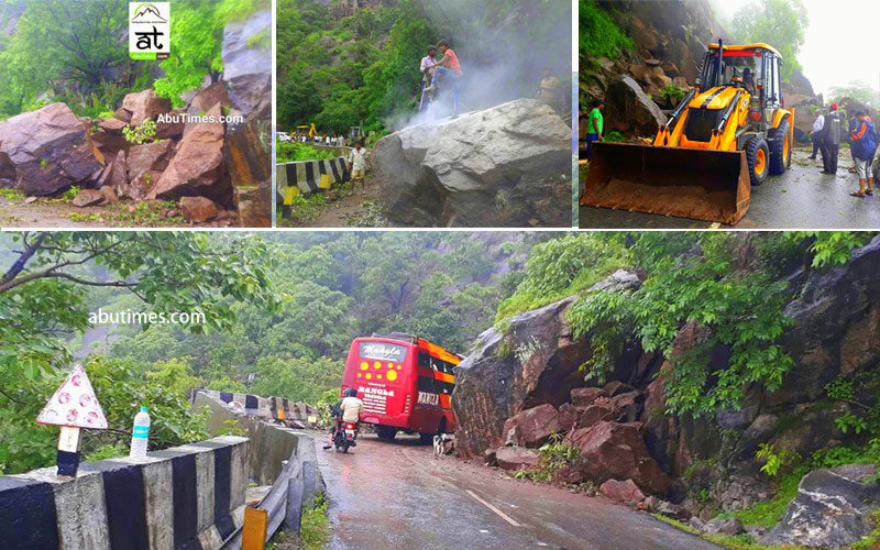 landslide in mount abu 2017